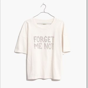 MDW Forget Me Not Graphic Easy Crop Tee